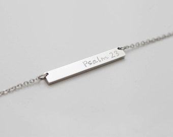 Dainty Necklace - Personalized Necklace - Skinny Bar Necklace - Gift For Mom - Simple Necklace - Layered Necklace - Necklace For Mom