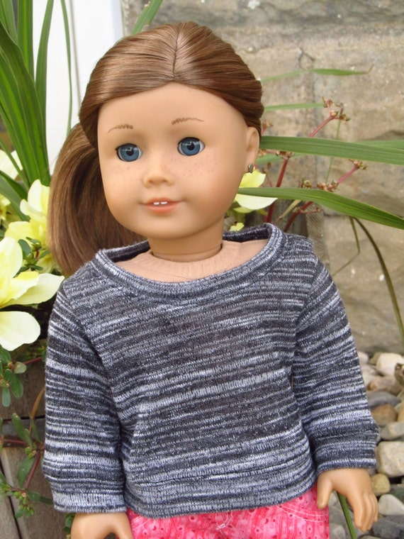 Black, Gray, and White Sweater - American Girl Doll Clothes