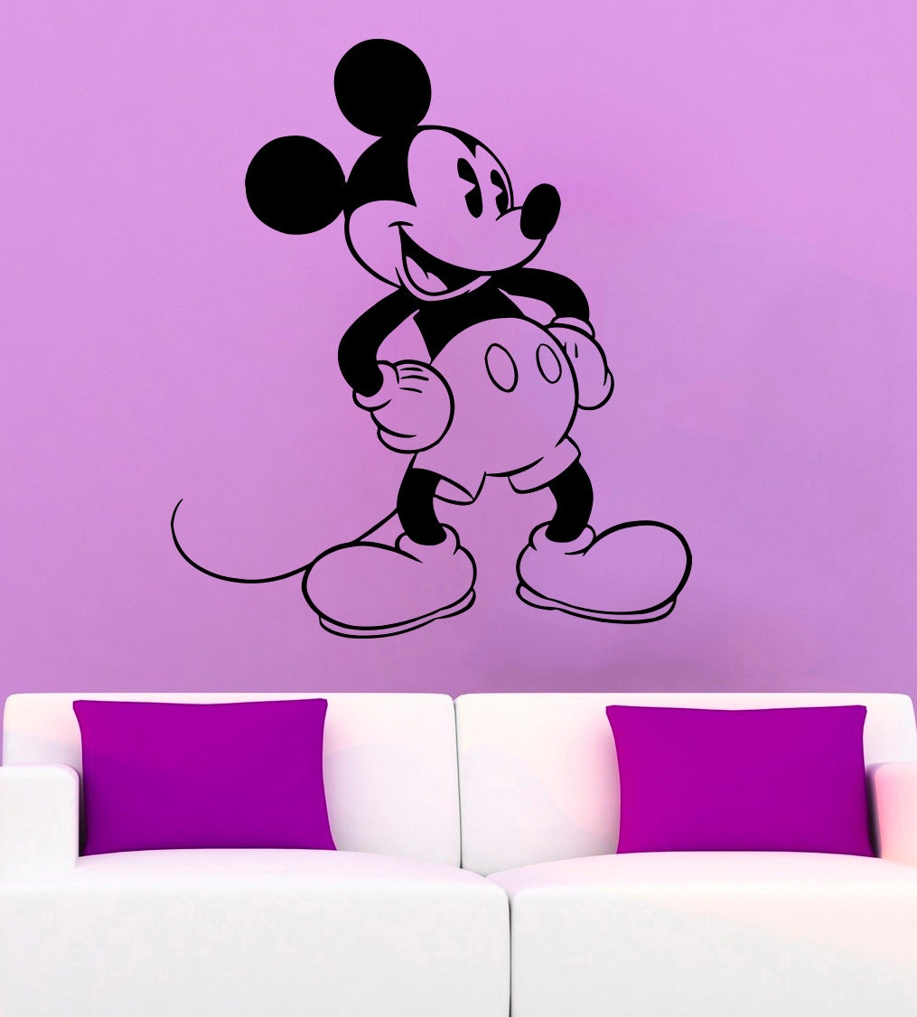 Mickey Mouse Wall Decal Mickey Mouse Vinyl Sticker Cartoon