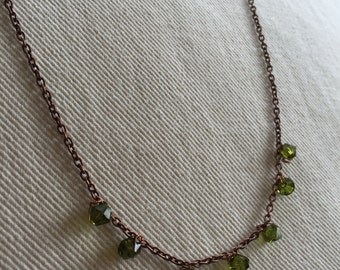 Olivine Swarovski Crystal Necklace