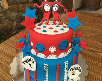 Thing 1 and 2 Cake topper - we can do any theme!