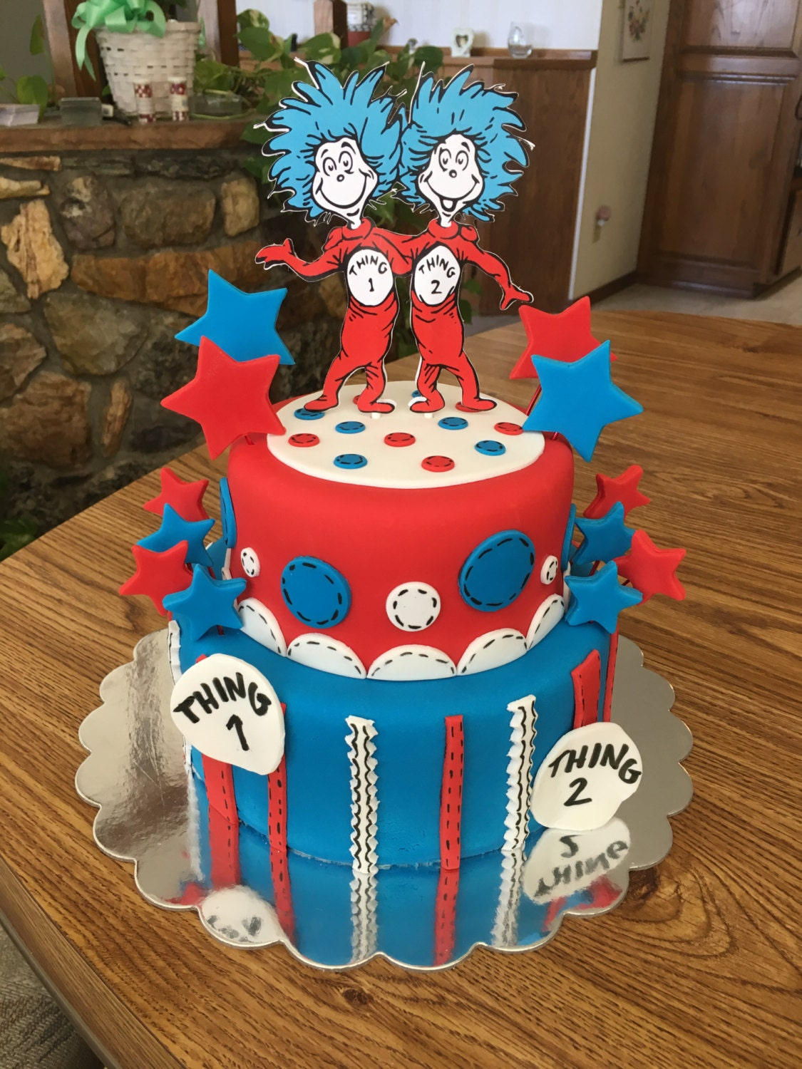 Thing 1 And 2 Cake Topper We Can Do Any Theme