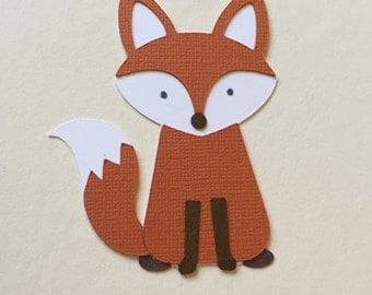 Fox Woodland Critter Cupcake Topper/Food Pick - 6 Count