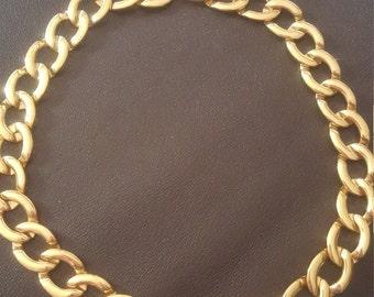 20% Off Vintage Monet Gold Tone Chain Link Necklace ,1980's