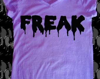 T-shirt FREAK style pastel goth