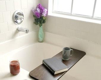 Rustic Bath Board, Bath Tub Shelf, Bath Tub Caddy, Bath Tub Tray, Bathtub, Bubble Bath, Customization Available, Gift
