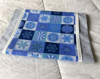 Blue Snowflake Christmas Table Runner