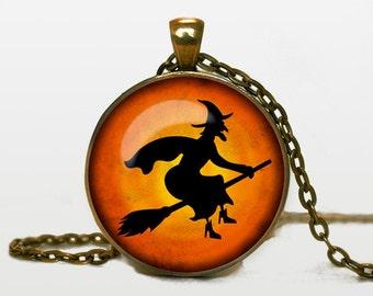 Halloween necklace Halloween pendant Halloween jewelry Pendant Trick or Treat Halloween Pendant Halloween jewelry black grey orange