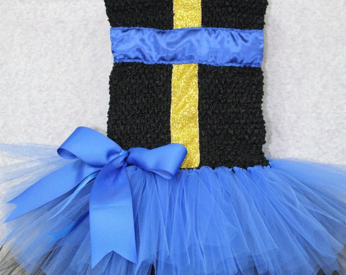 Disney Descendants inspired tutu dress,Descendants costume,Black, Blue Tutu dress,Girls Disney tutu dress,Disney dress,Blue tutu, Black tutu