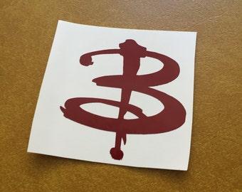Buffy the Vampire Slayer logo letter B vinyl sticker decal
