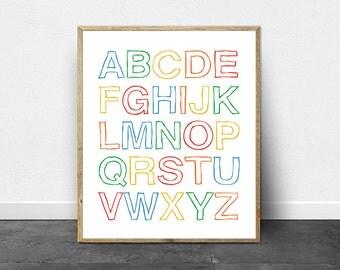 Wall Art Print -SALE- ABC - Printable Art - Instant Download - Printable Quote - Wedding - Printable Gift - Last Minute Gift - Nursery