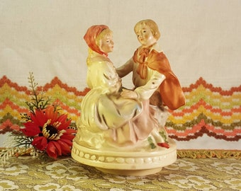 Vintage music box sculpture, made in Japan