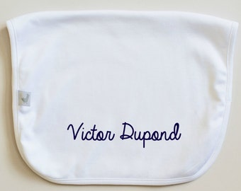 Personalized Burp Cloth in Pima Cotton