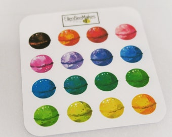 Rainbow Bath Bomb Stickers