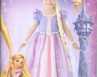 Simplicity 2065 Disney Rapunzel Tangled Princess Halloween Costume Pattern Toddler