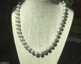 Sophisticated Soft Grey Pearl Necklace