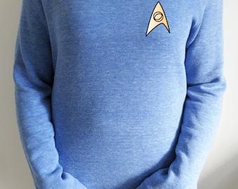 Star Trek Blue Shirt Spock slouch jumper for women