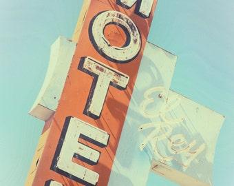 Motel Sign, Vintage Decor, Retro Decor Neon Sign Photo Vintage Neon Sign Retro Neon Sign Route 66 Route 66 Sign Vintage Wall Art Retro Decor