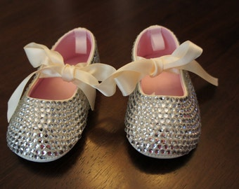 Bedazzled Baby Ballet Slippers