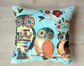 Owl pillow,pillow cover,animal pillow, Cushions, pillow case, decorative pillow,  zippered, Valantines Day Gift ideas,funny pillow