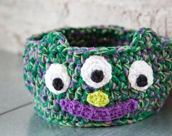 Crochet Kids Monster Basket