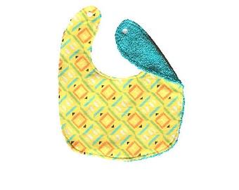 Bib <<Sunshine Square>> Neckerchief/Baby/Scarf//Yellow//Blue//Aqua//Sky Blue//Orange//Green