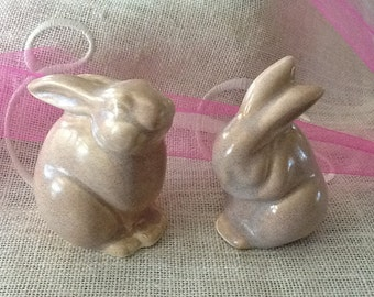 Pottery- Praying Bunny and Friend by SisteRoux