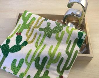 Cactus Swaddle Receiving Baby Blanket