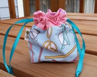 Lined Drawstring Bag - tiny size