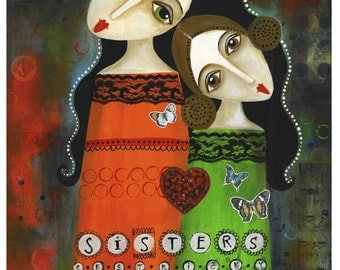 "sisters - reproduction of original 8.3"" × 11.7"" (A4)"