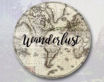 Wanderlust Sticker - Wanderlust Decal - Adventure Vinyl Decal - Laptop Decal - Macbook Decal - Laptop Sticker - Car Decal - Vinyl Stickers