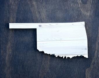 Oklahoma State Wood Cutout