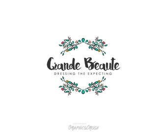 Flower Logo Floral Branch  Beauty Photography Flower Shop Premade Logo