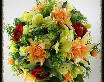 Flower Centerpiece Wedding, Kissing Ball, Flower Pomander Balls, Hanging Flower Balls, Floral Centerpiece, Wedding Pomander Balls, Silk