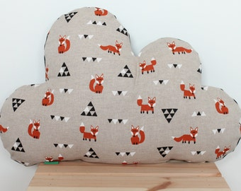 Clouds Cushion cover Fox triangles