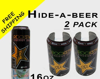16 oz Pounder 2 PACK Hide A Beer Can Soda Covers Camo Wrap Sleeve Disguise Drinking Game Golf Boating Fishing Tailgating Pool