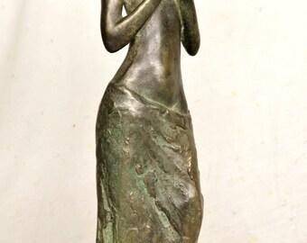 "ELAINE - Cold cast bronze sculpture, by Lluis Jorda -39 cm/15.6"" ht. - 2 kg weight"