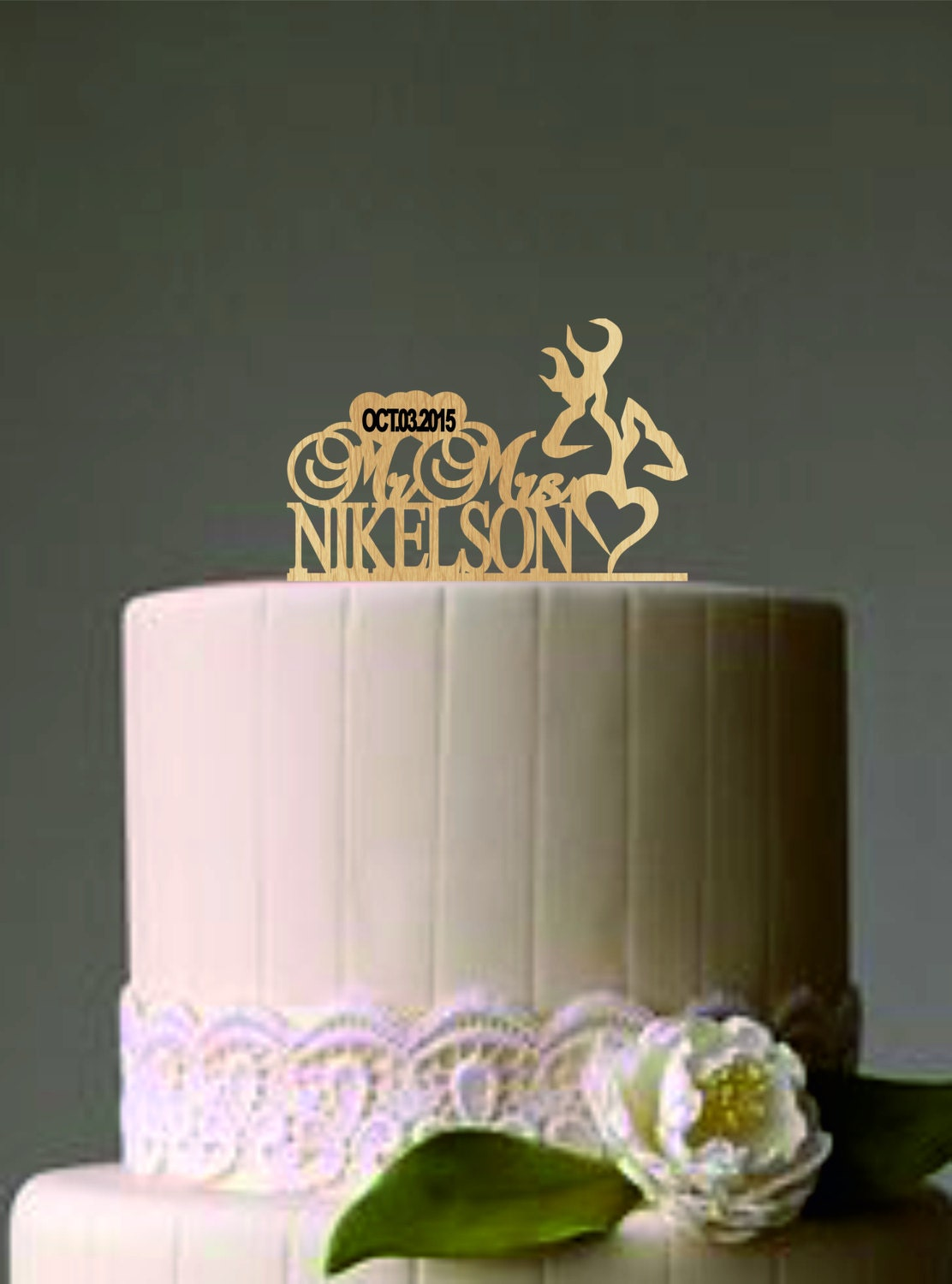 rustic wedding cake toppers uk deer wedding cake topper country wedding cake topper 19588