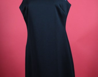 LBD Little Black Dress Sleeveless Sheath Cut with high Camisole neckline