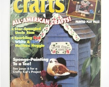 Quick & Easy Crafts magazine June 1994 painting woodworking crocheting kids crafts too