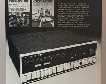 1971 Altec Lansing 714A Stereo Receiver Print Ad