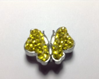 BUTTERFLY- JEWELED w/ SILVER Snap button