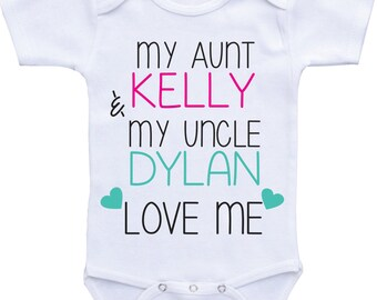 My Aunt and Uncle Love Me, Aunt and Uncle Onesies,  Aunt baby shirt, Uncle baby shirt, aunt shirt I love my Aunt, My Aunt Loves Me