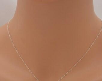 Silver Dot Necklace, Tiny Dot Necklace, Mini Dot Necklace, Floating Dot Necklace, Minimalist Necklace, Sterling Silver Chain 0342