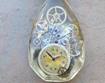 vintage EPNS fluted fruit spoon watch pendant