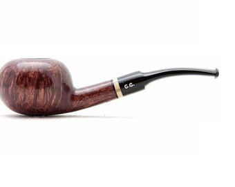 "Tobacco Smoking Pipe Briar Metal filter 5,51"" NEW Unsmoked Smooth Tomate Red pipe extra extra Briar ebonite stem excellent quality + GIFT"