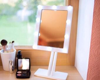 items similar to broadway lighted vanity mirror black on etsy. Black Bedroom Furniture Sets. Home Design Ideas