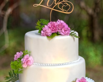 Wedding Cake Topper Love