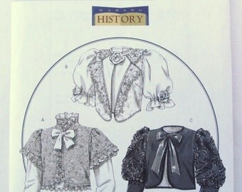 Misses Victorian Jacket with Long and Short Sleeves: Part of the Making History Series - Butterick B4952 sizes 14 - 16 - 18 - 20