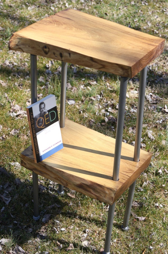 Handcrafted Wood Table Two-Tier Reclaimed Wood